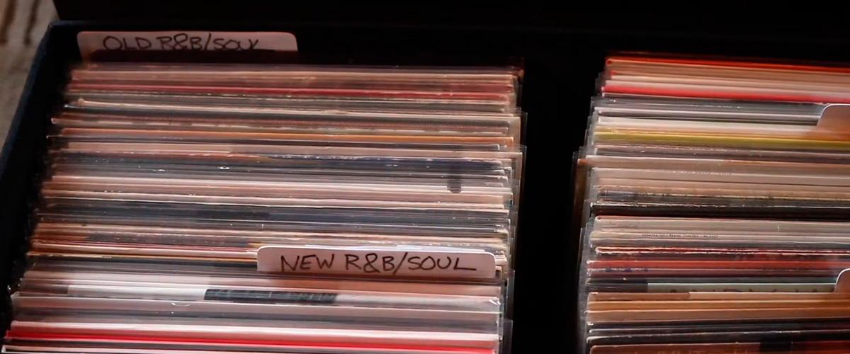 Upright Record Storage