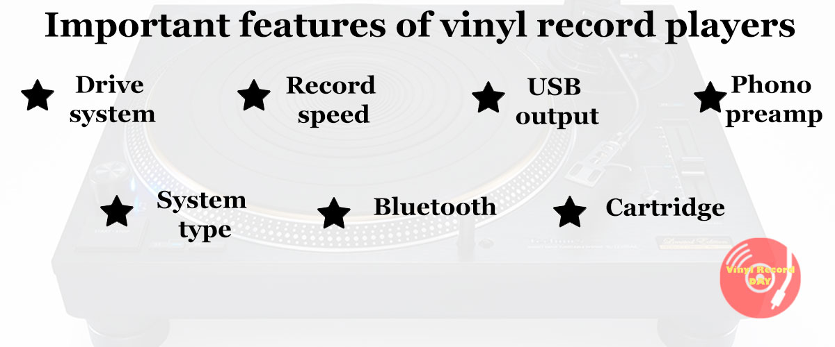 Features of vinyl record players